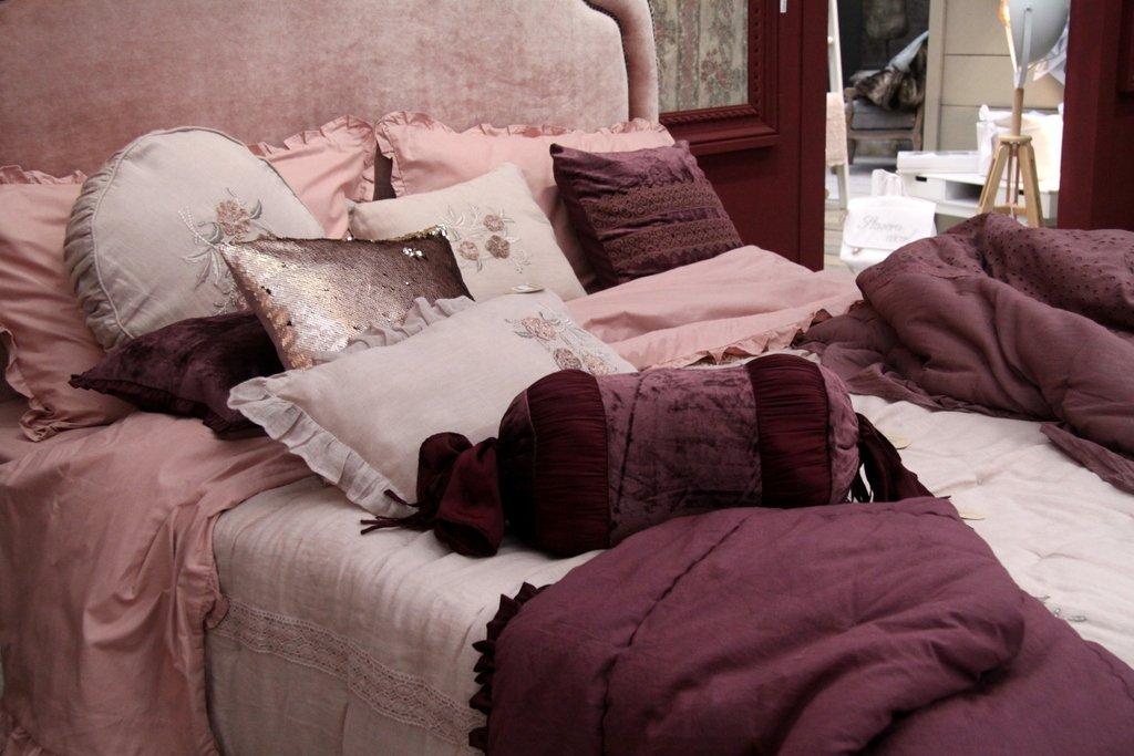 Trapunta rosa signoria invernale Blanc Mariclò
