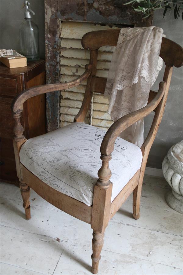 Sedia-rivestita-tessuto-vintage-shabby-chic