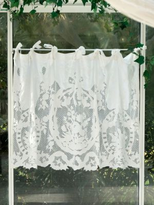 "Mantovana in pizzo Coquecigrues serie ""Ornement"" shabby chic"